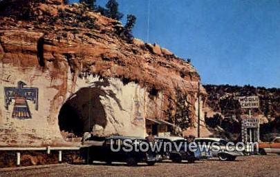 Moqui Caverns - Kanab, Utah UT Postcard