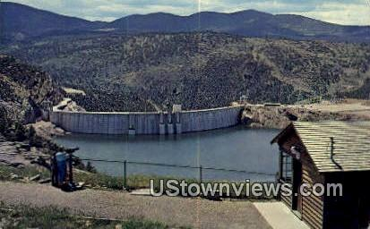 Flaming Gorge Dam - Green River, Utah UT Postcard