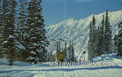 Gad I Double Chair Lift - Snowbird, Utah UT Postcard