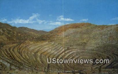 Bingham Copper Mine, UT     ;     Bingham Copper Mine, Utah Postcard