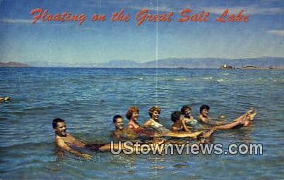 Great Salt Lake, UT     ;     Great Salt Lake, Utah Postcard