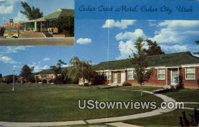 Cedar Crest Motel - Cedar City, Utah UT Postcard
