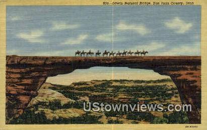 Edwin Natural Bridge - San Juan County, Utah UT Postcard