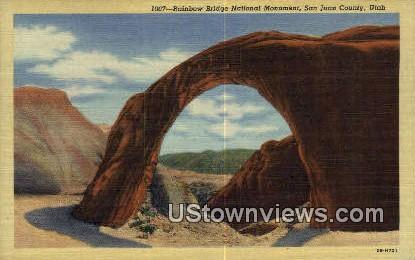 Rainbow Bridge National Monument - San Juan County, Utah UT Postcard
