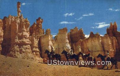Horseback Riders - Bryce Canyon National Park, Utah UT Postcard