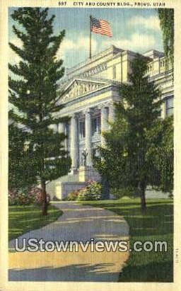 City & County Bldg - Provo, Utah UT Postcard