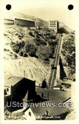 Real Photo - Passenger Train - Bingham Canyon, Utah UT Postcard