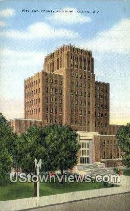 City & County Bldg - Ogden, Utah UT Postcard