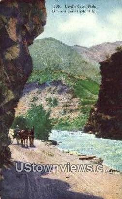 Devils Gate, Utah     ;     Devils Gate, UT Postcard