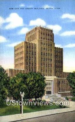 New City & County Bldg - Ogden, Utah UT Postcard