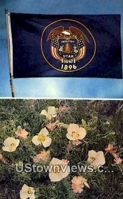 Utah State Flag - Misc Postcard