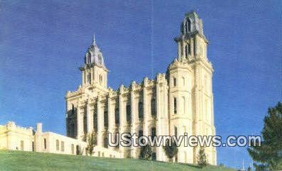 Manti Temple - Utah UT Postcard