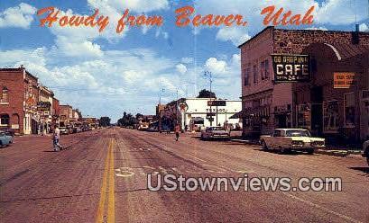 US Highway 91 - Beaver, Utah UT Postcard