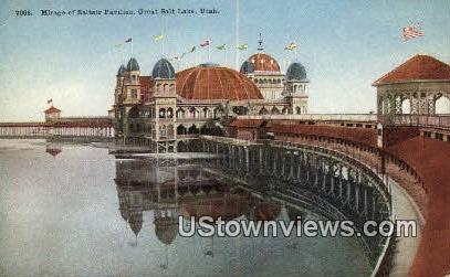 Mirage of Saltair Pavilion - Great Salt Lake, Utah UT Postcard