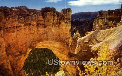 Natural Bridge - Bryce Canyon National Park, Utah UT Postcard