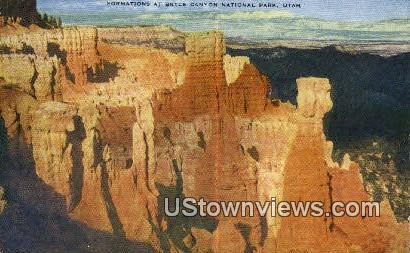 Bryce Canyon National Park, Utah     ;     Bryce Canyon National Park, UT Postcard