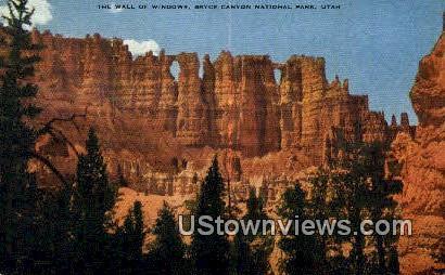 Wall of Windows - Bryce Canyon National Park, Utah UT Postcard