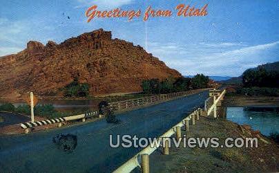 Colorado River - Moab, Utah UT Postcard