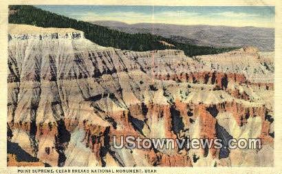 Point Supreme - Cedar Breaks National Monument, Utah UT Postcard