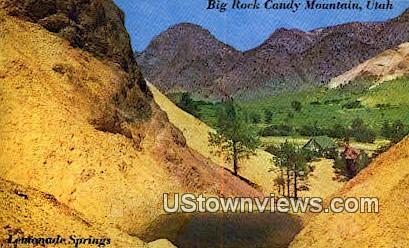 Lemonade Prings - Big Rock Candy Mountain, Utah UT Postcard