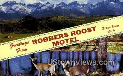 Robbers Roost Motel - Green River, Utah UT Postcard