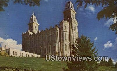 LDS Temple - Manti, Utah UT Postcard