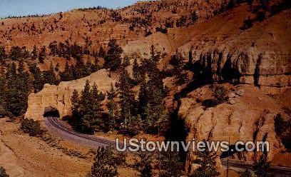 Tunnels, Red Canyon - Bryce Canyon, Utah UT Postcard