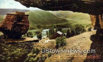 Pulpit, Hanging Rocks - Echo Canyon, Utah UT Postcard
