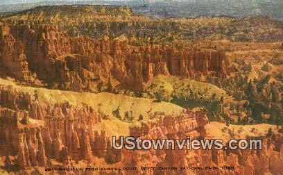 Boat Mountain, Sunrise Point - Bryce Canyon National Park, Utah UT Postcard