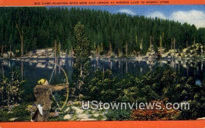 Big Game Hunting, Mirror Lake - Utah UT Postcard