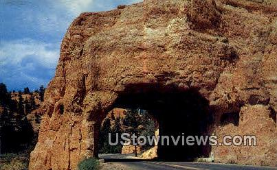 Red Canyon Highway Tunnel, UT     ;     Red Canyon Highway Tunnel, Utah Postcard