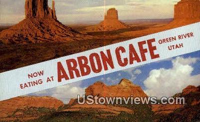 Arbon Caf» - Green River, Utah UT Postcard