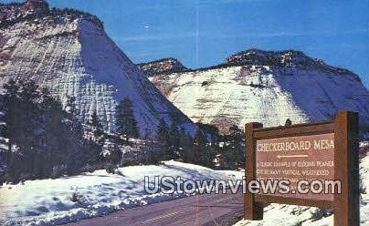 Zion National Park, Utah     ;     Zion National Park, UT Postcard
