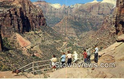 Switchbacks, Mt Carmel Highway - Zion National Park, Utah UT Postcard