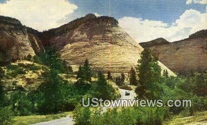 Checkerboard Mesa - Zion National Park, Utah UT Postcard