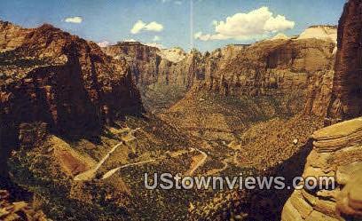 Switchbacks, Zion Mt Carmel Highway - Zion National Park, Utah UT Postcard