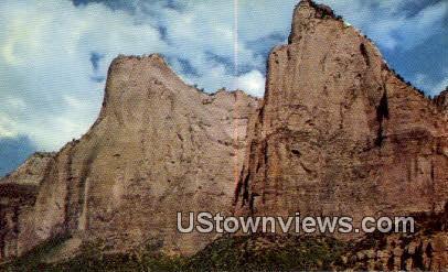 Court of Patriarchs - Zion National Park, Utah UT Postcard