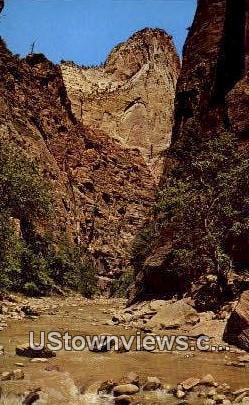 Mystery Mountain, Narrows Trail - Zion National Park, Utah UT Postcard