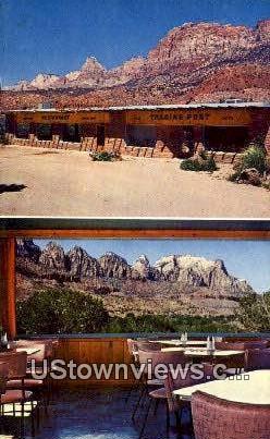 Eagle's Nest Restaurant - Springdale, Utah UT Postcard