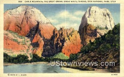 Cable Mountain - Zion National Park, Utah UT Postcard