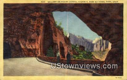 Mt Carmel Highway - Zion National Park, Utah UT Postcard