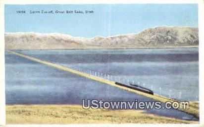 Lucin Cut Off - Great Salt Lake, Utah UT Postcard
