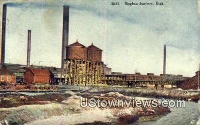 Bingham Smelters, UT     ;     Bingham Smelters, Utah Postcard