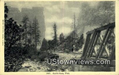 Castle Gate, Utah     ;     Castle Gate, UT Postcard