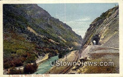 Tunnel - Weber Canyon, Utah UT Postcard