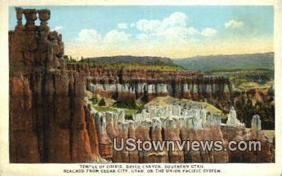 Temple of Osiris - Bryce Canyon, Utah UT Postcard