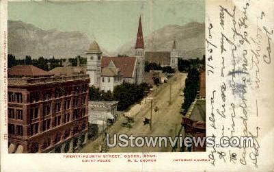 Twenty Fourth Street - Ogden, Utah UT Postcard