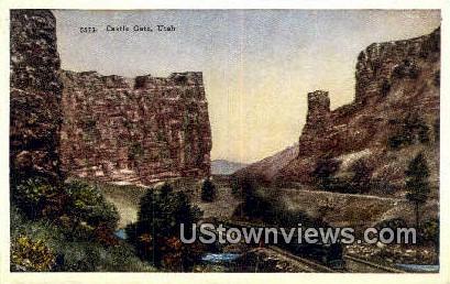 Castle Gate, UT     ;     Castle Gate, Utah Postcard