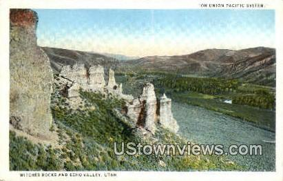 Witches Rocks - Echo Valley, Utah UT Postcard
