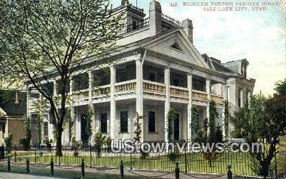 Beigham Young's Beehive House - Salt Lake City, Utah UT Postcard